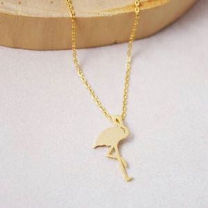 🌴 Flamingo Necklace 18k gold plated